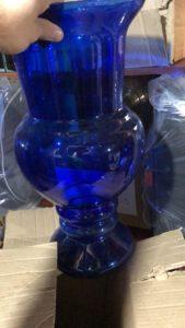 Vaso de Vidro Taça Itália – Azul